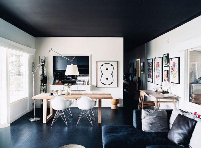 Cách phối màu cho trần nhà ấn tượng