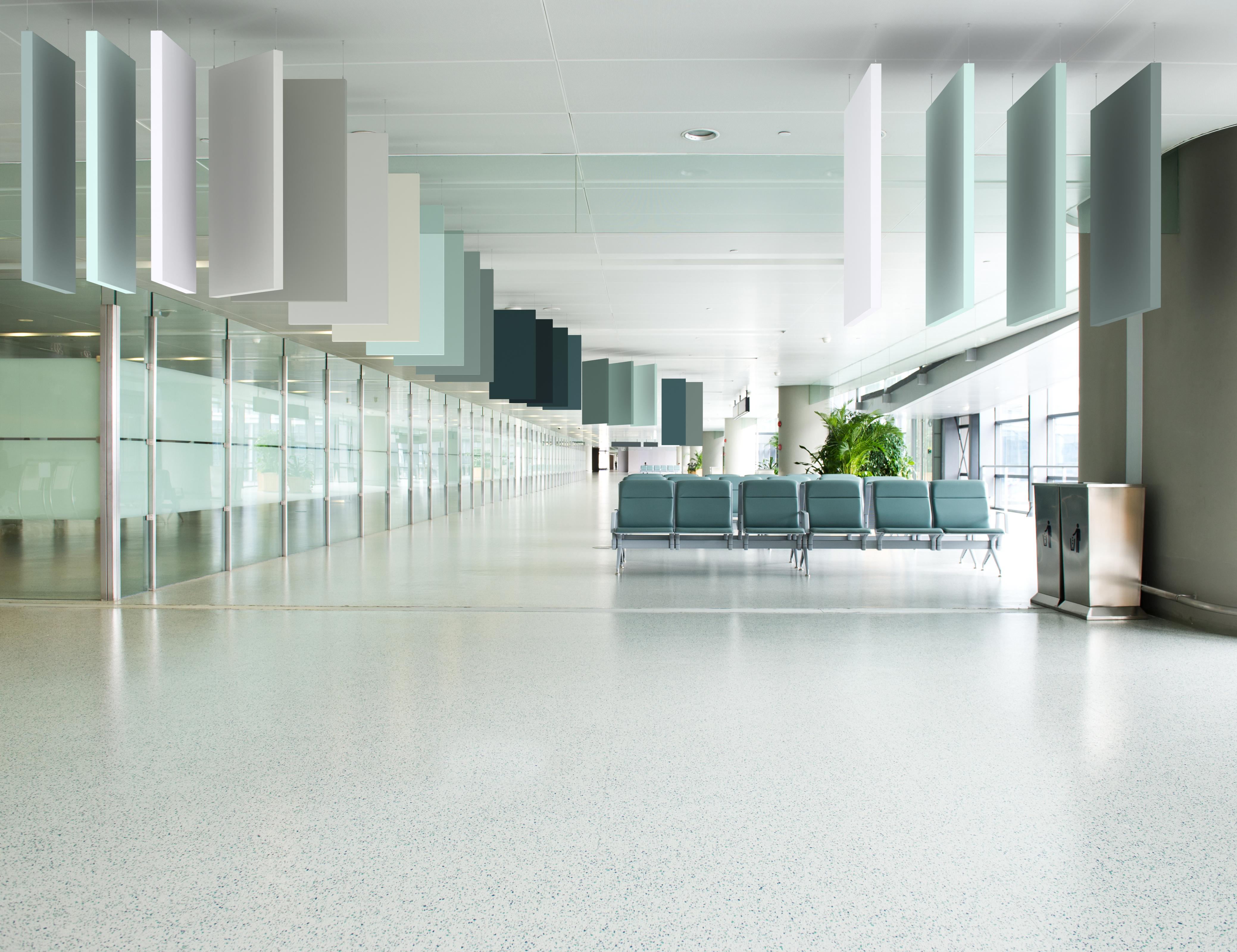 Công trình sân bay lắp đặt tấm Arcolis