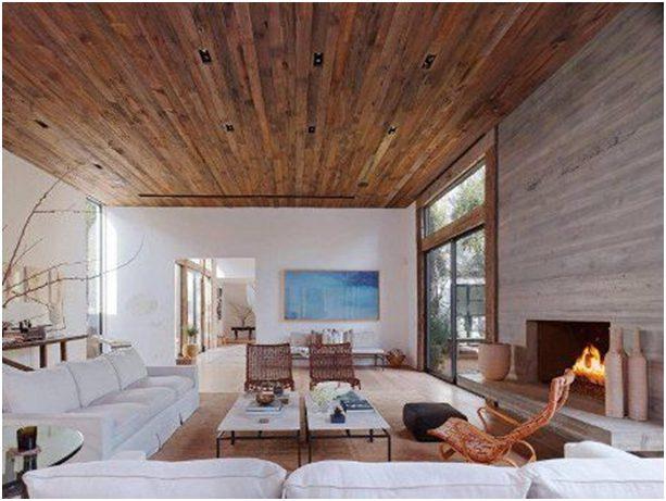trần nhà gỗ sang trọng