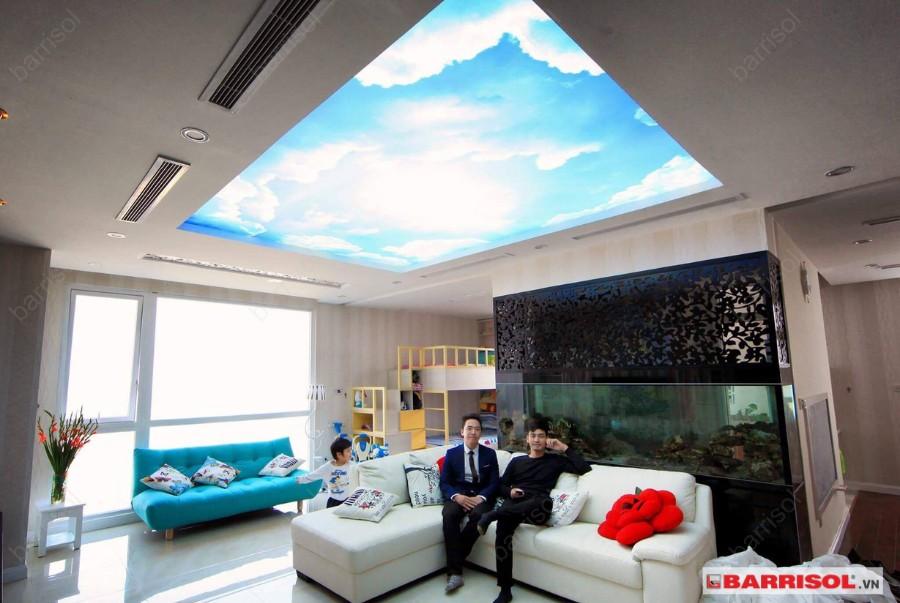 giấy dán trần nhà 3d