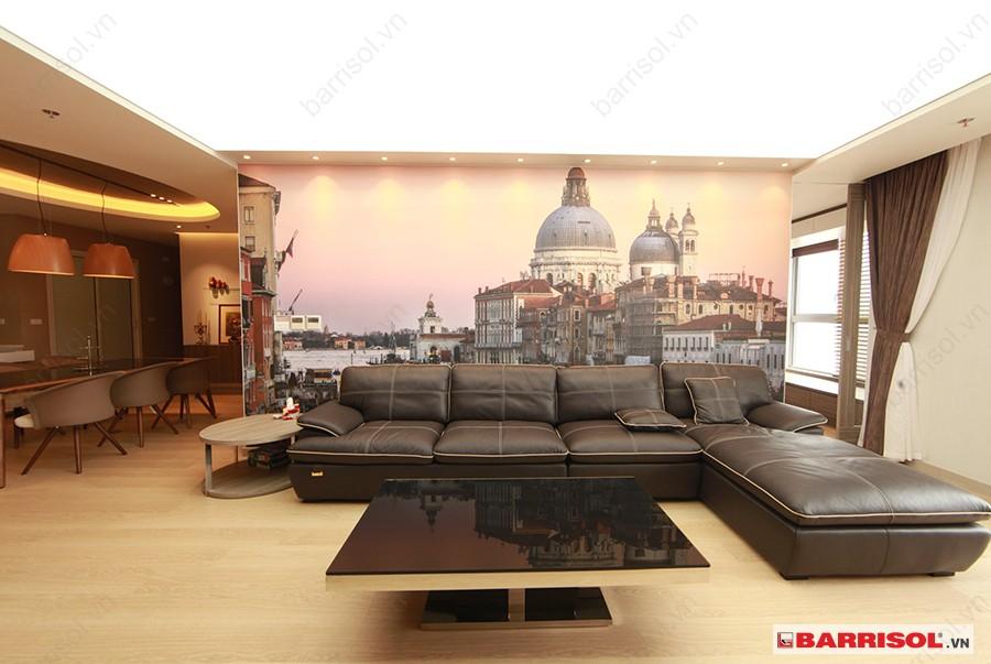 Thiết kế trần nhà đẹp hợp phong thủy cho phòng khách