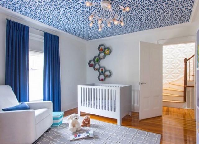 giấy dán tường cho trần nhà