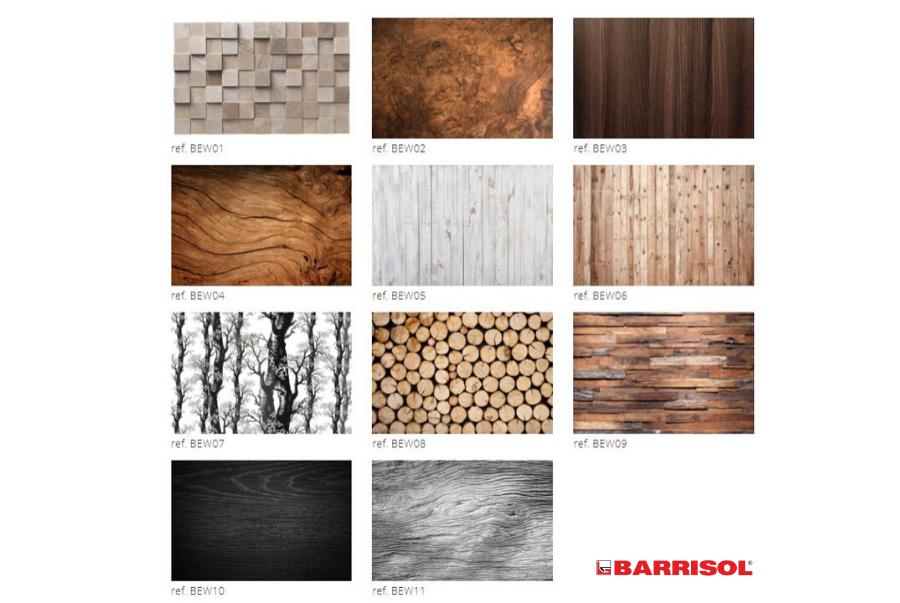 Trần in gỗ