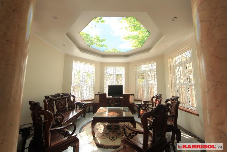 Mẫu trần in giúp tạo điểm nhấn cho tổng thể không gian và cho một trần nhà đẹp