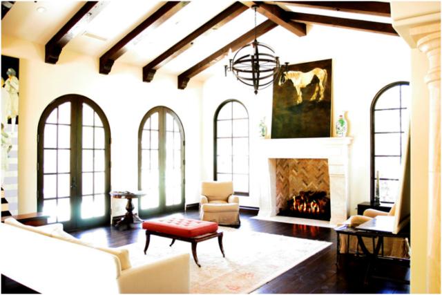 trang trí trần nhà để lộ dầm nhà