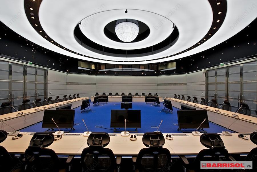 Công trình Gold Sun Bắc Ninh có sử dụng trần căng tiêu âm Barrisol tại phòng họp