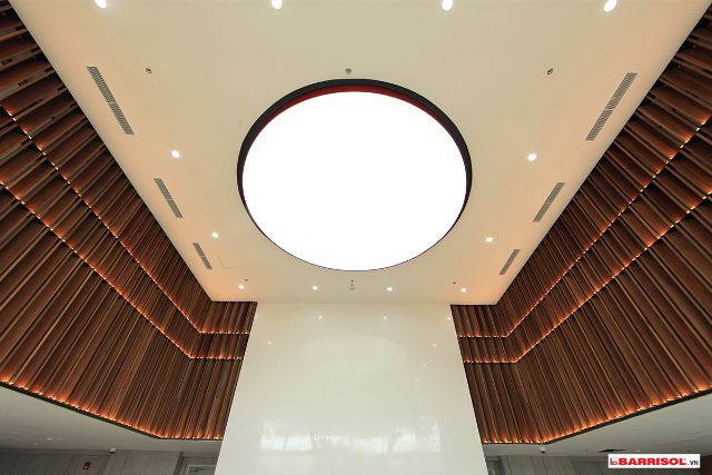công trình trần xuyên sáng barrisol 19