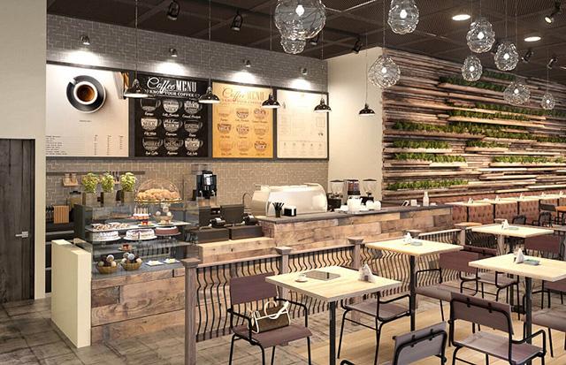 mẫu quán cà phê đẹp 8